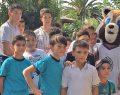 Minik güreşçiler hayvanat bahçesini gezdi