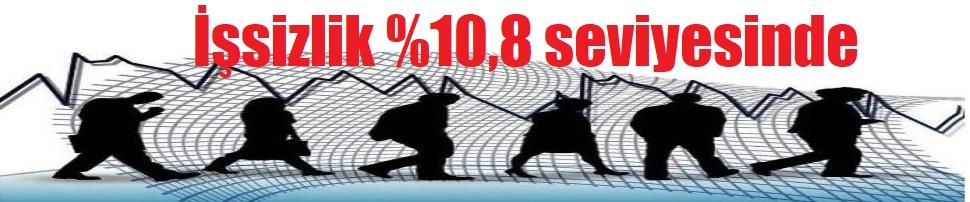 İşsizlik %10,8 seviyesinde