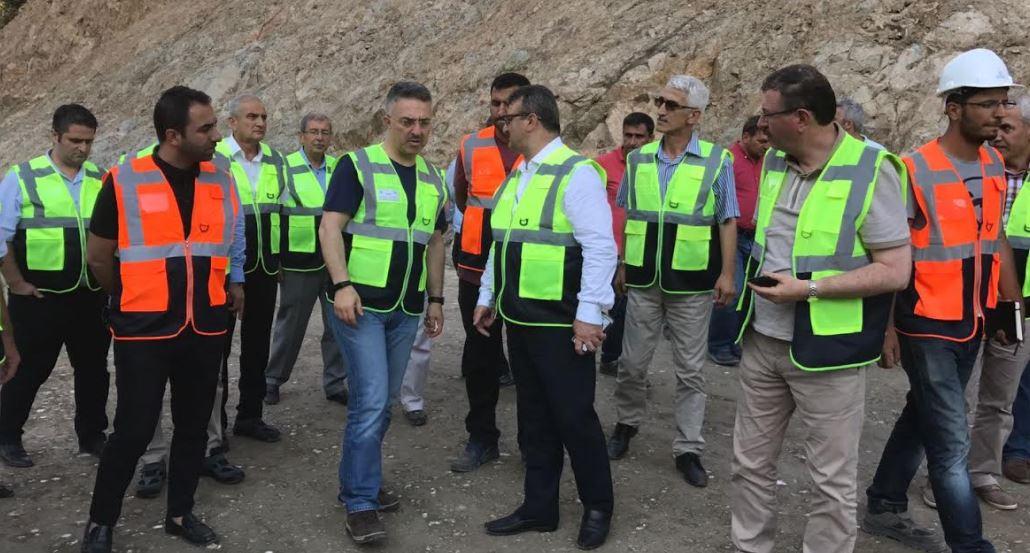 İhsaniye Baraj inşaatında inceleme