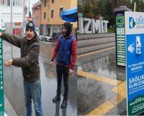 Dezenfektan otomatları vatandaşın hizmetinde
