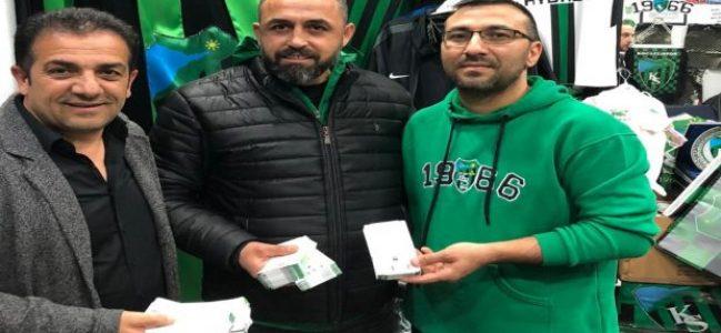 Kocaelispor taraftarlarına bilet desteği