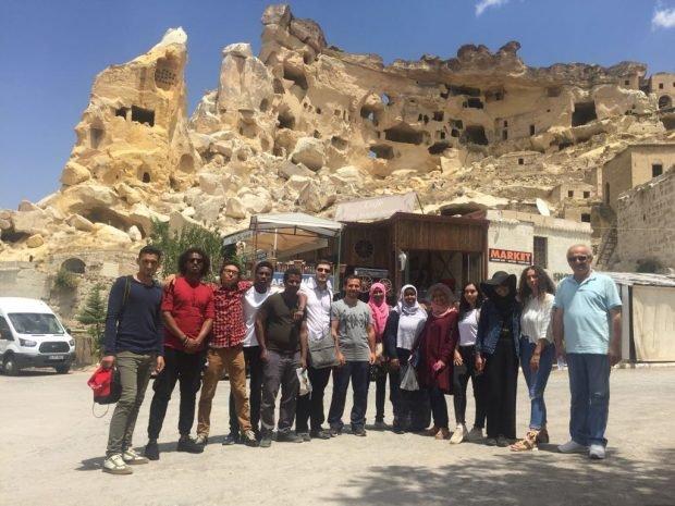 Kapadokya'yı gezdiler