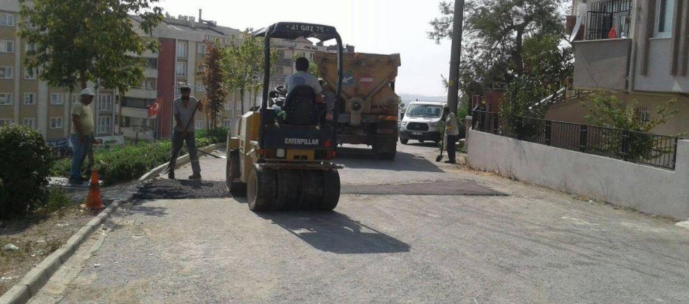 Gebze'de yollar kışa hazırlanıyor