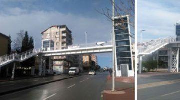 Çayırova Ali Haydar Caddesi üzerindeki yaya köprüsü tamamlandı