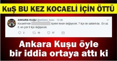 Ankara Kuşu Kocaeli için öttü!
