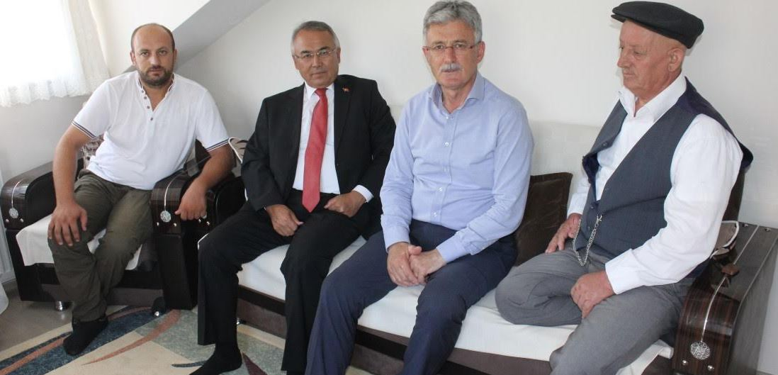 Kaymakam Altıntaş ve Başkandan Gazilere Ziyaret