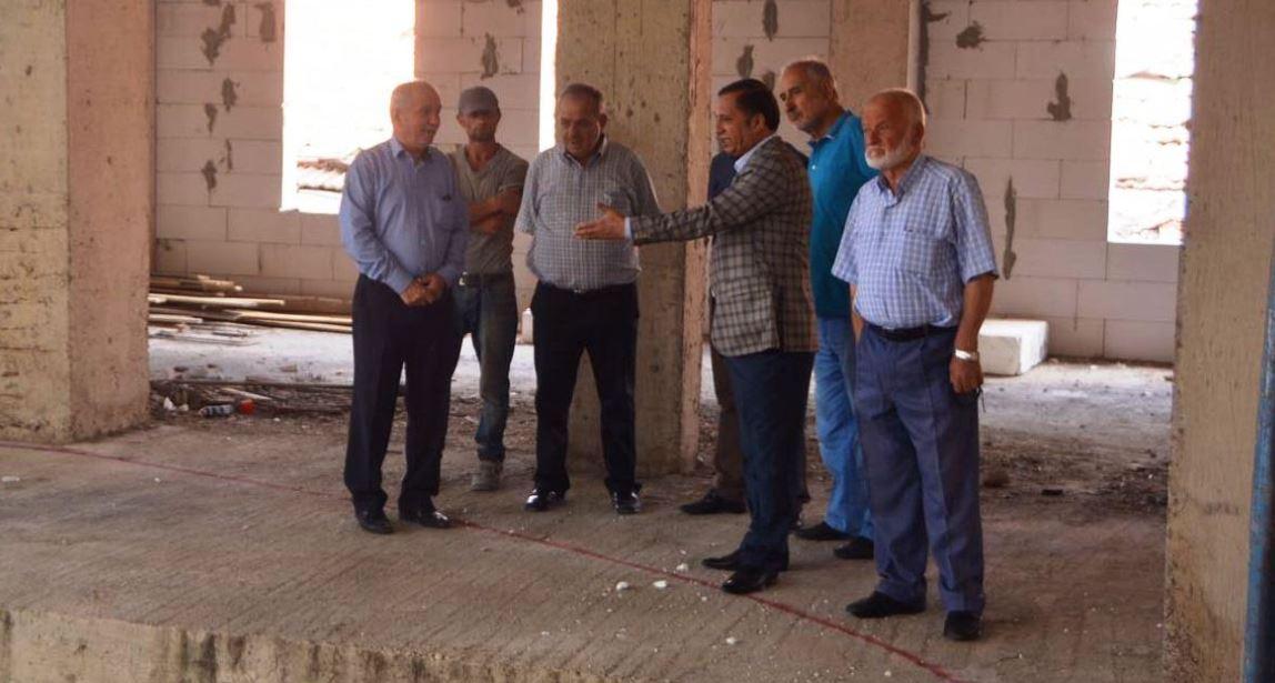 Toltar, cami inşaatını inceledi
