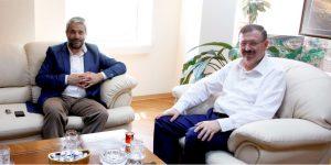 Bayram'a ilk ziyaret Ergün'den