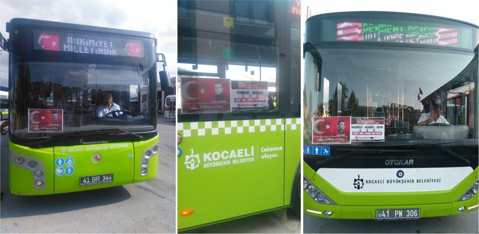 249 Şehit için 249 otobüs