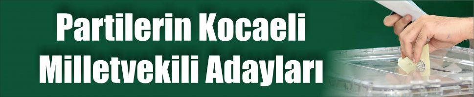Kocaeli'deki tüm adayların listesi