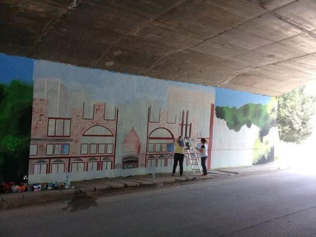 Körfez´in duvarları sanatla boyanıyor