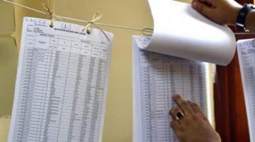 Seçmen listeleri, 2 Mayıs'ta askıda