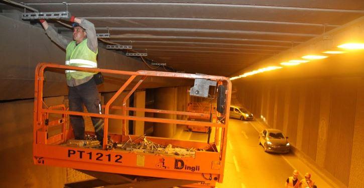 Seka Tüneli'ne özel aydınlatma sistemi