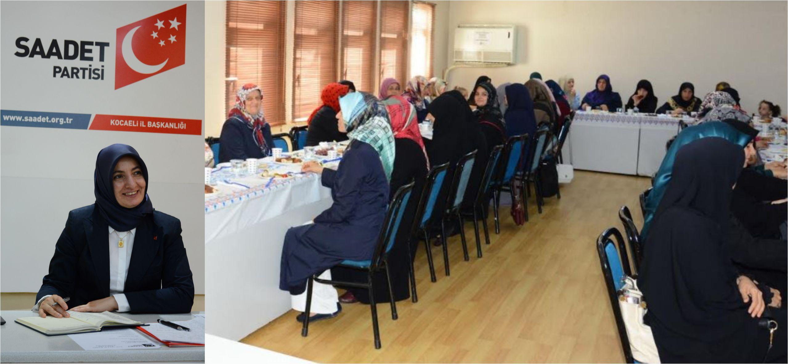 Saadet Partisi Kadın Kolları Toplandı