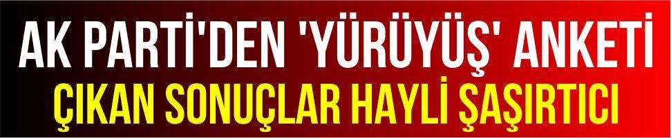 AK Parti'den 'yürüyüş' anketi