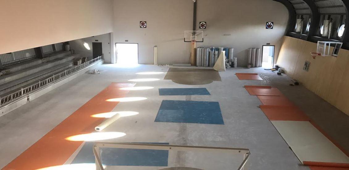 Çayırova'da ki Okula Yeni Spor Salonu