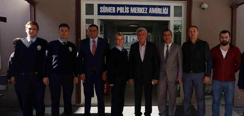 Karaosmanoğlu, Sümer Polis Merkez Amirliğini ziyaret etti