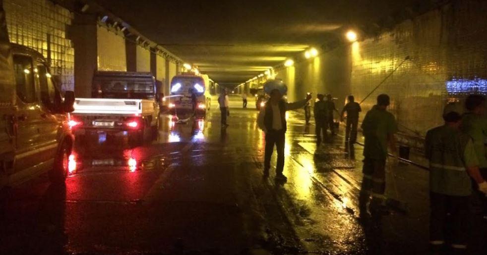 Kocaeli'deki tüneller özel ekiple temizleniyor