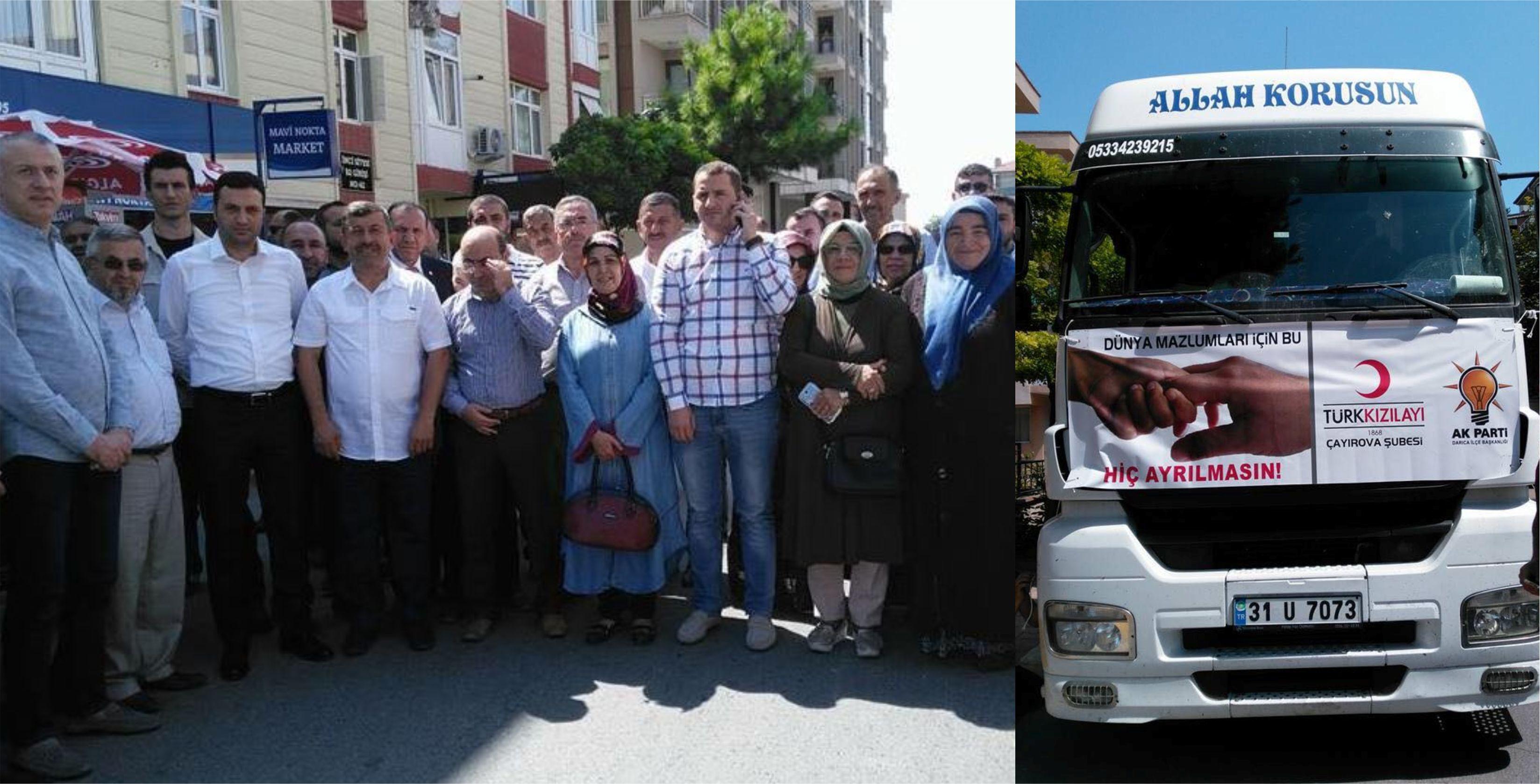 Yardım TIR'ları Darıca'dan Yola Çıktı